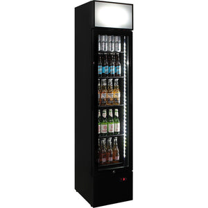 Bar Fridge - Branded Skinny Upright Bar Fridge With Telephone Box Design