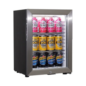 Bar Fridge - Schmick Glass Door Mini Bar Accommodation Fridge Quiet Running With Shallow Depth Model SK40-SS