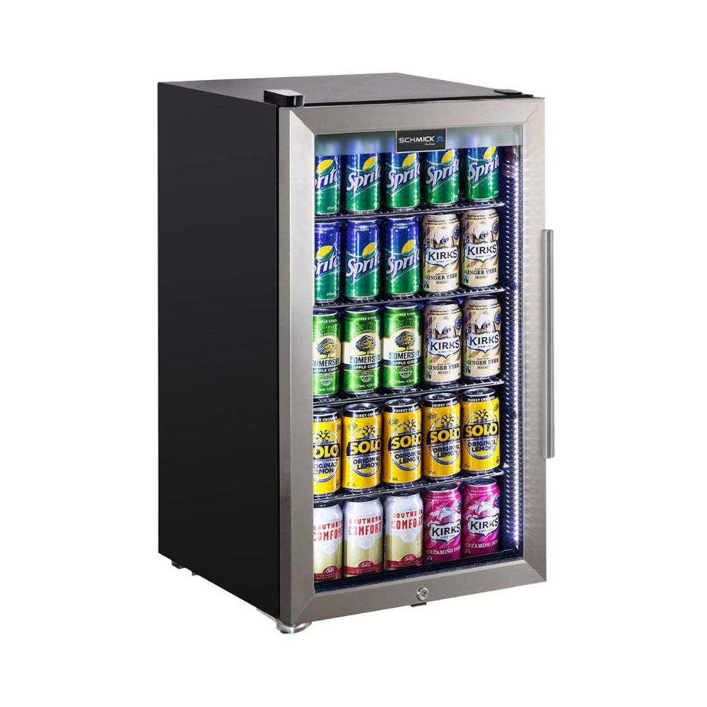 Bar Fridge - Schmick Outdoor Triple Glazed Alfresco Bar Fridge With Led Strip Lights, Lock And LOW E Glass, Indoor Use Also Perfect!