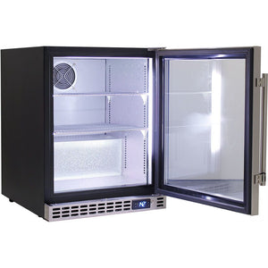 Bar Fridge - Schmick Quiet Running Front Venting Under Bench Glass Door Bar Fridge Model SK86-SS (PRE-ORDER FOR LATE OCT)