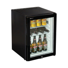 Load image into Gallery viewer, Bar Fridge - Silent 40Litre Dellware Motel Mini Bar Fridge With Triple Glass Door And Lock