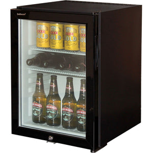 Bar Fridge - Silent 40Litre Dellware Motel Mini Bar Fridge With Triple Glass Door And Lock