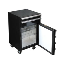 Load image into Gallery viewer, Bar Fridge - TOOLBOX 50 Litre Black Mini Bar Fridge / 38Cans