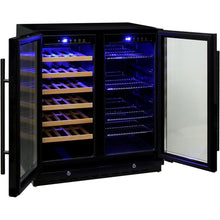Load image into Gallery viewer, Bar Fridge - Under Bench Beer And Wine Dual Zone Bar Fridge Model JC165B (PRE-ORDER FOR EARLY NOV)