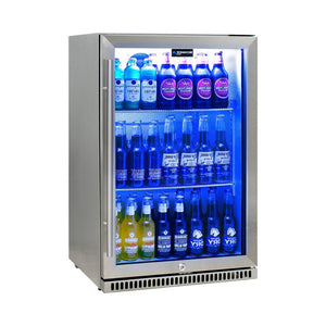 Bar Fridge - Schmick 304 Stainless Steel Bar Fridge Tropical Rated With Heated Glass And Triple Glazing Model SK118L-SS