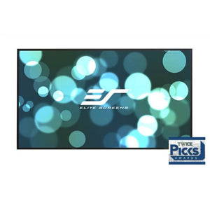 "Elite Screens AR100DHD3 Aeon Series Projector Screen 100"" Fixed Frame 16:9 Edge Free CineGrey 3D Screen Material"