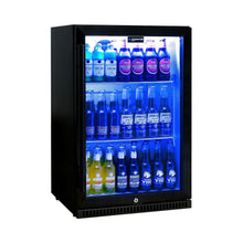 Load image into Gallery viewer, Bar Fridge - Schmick Black Bar Fridge Tropical Rated With Heated Glass And Triple Glazing 1 Door Model SK118L-B