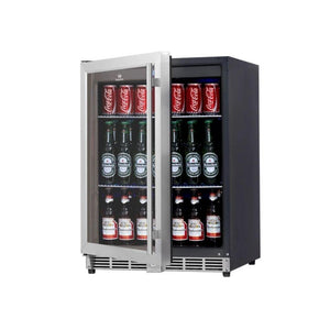 Bar Fridge - 152 Litre Under Bench Glass Door Beer Fridge