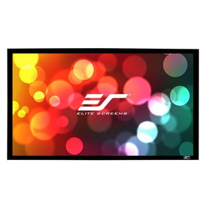 "Elite Screens 135"" Fixed Frame 16:9 Projector Screen, CineWhite, Sable Frame B2"