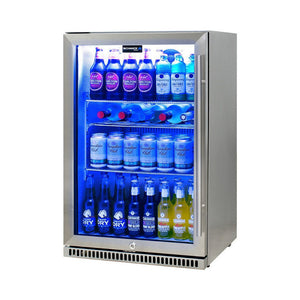 Bar Fridge - Schmick 304 Stainless Steel Bar Fridge Tropical Rated With Heated Glass And Triple Glazing Model SK118L-SS (PRE-ORDER FOR MID JAN)