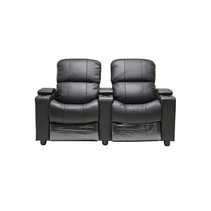 Sophie Black Leather 2 Seater Recliner