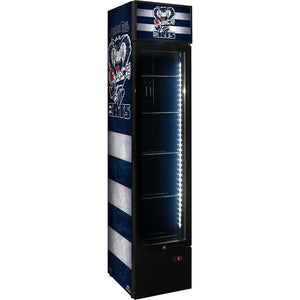 Bar Fridge - Weg Art Footy Branded Skinny Upright Bar Fridge - 15 Teams Available **Product Is Not Endorsed By AFL Or Featured Club**