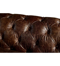 Load image into Gallery viewer, SOFAS & LOUNGE SUITES - Winston Two Seat Classic Vintage Leather Chesterfield Lounge – Cigar Brown