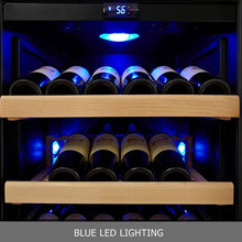 Load image into Gallery viewer, Wine Fridge - 308 Litre Glass Door Upright Dual Zone Wine Fridge