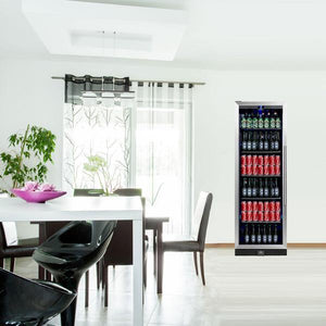 Bar Fridge - 405 Litre Upright Glass Door Bar Refrigerator