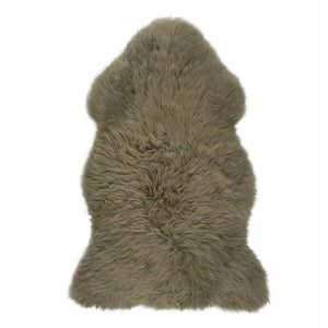 Rug - TAUPE - XXL GREEN TINGED LONG WOOL RUG - AUSTRALIAN MERINO SHEEPSKIN
