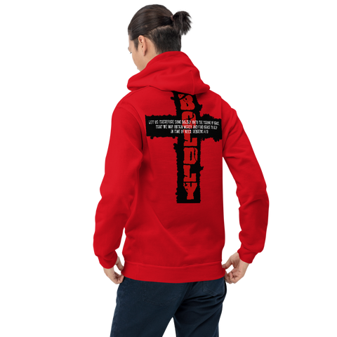 SaySo Gifts and Apparel Boldly Hoodie in Red, Christian Hoodies for Men and Women, Christian Streetwear Brand