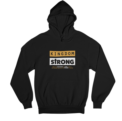 SaySo Gifts and Apparel Kingdom Strong Hoodie, Christian Hoodies for Men and Women, Christian Streetwear Brand