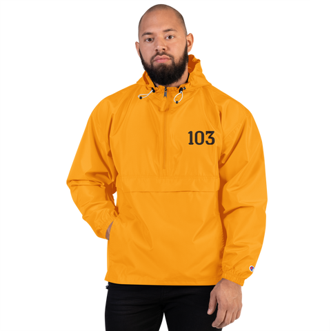 SaySo Gifts and Apparel 103 Champion Packable Jacket, Rain Resistant Jacket for Men and Women, Christian Apparel, Christian Streetwear Brand