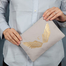 Load image into Gallery viewer, Personalised Angel Wing Initial Cosmetic Or Wash Bag