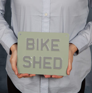 Handmade Vintage Sign - Bike Shed