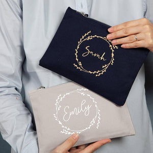 Bridesmaid Cosmetic Bag With Hidden Message