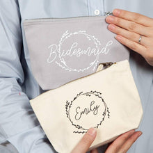 Load image into Gallery viewer, Bridesmaid Cosmetic Bag With Hidden Message