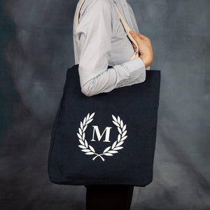 Perosnalised Initial Wreath Shopper Bag