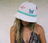Blanco Turquoise Butterfly Bucket