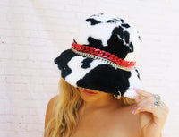 Miss Deville Fuzzy Cow Bucket