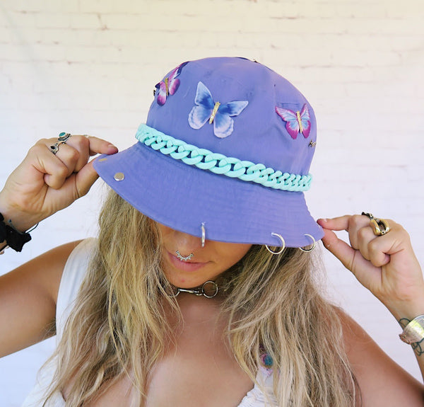 Indigo Baby Butterfly Bucket Hat
