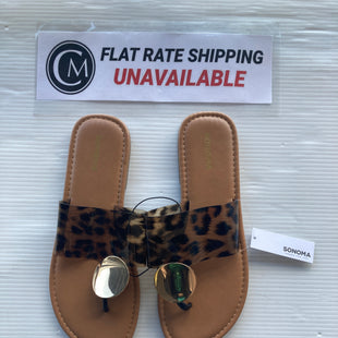 Primary Photo - BRAND: SONOMA STYLE: SANDALS FLAT COLOR: LEOPARD PRINT SIZE: 9 OTHER INFO: NEW! SKU: 172-172170-66481