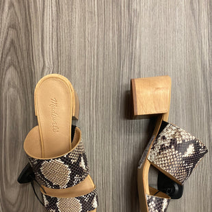 Primary Photo - BRAND: MADEWELL STYLE: SANDALS HIGH COLOR: SNAKESKIN PRINT SIZE: 10 OTHER INFO: AS IS SKU: 172-172170-71715