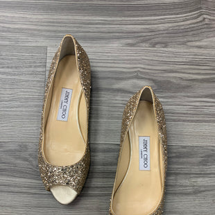 Primary Photo - BRAND: JIMMY CHOO STYLE: SHOES DESIGNER COLOR: GOLD SIZE: 9 SKU: 172-172170-75590