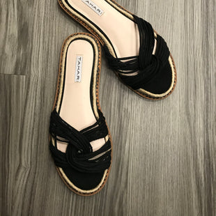 Primary Photo - BRAND: TAHARI STYLE: SANDALS FLAT COLOR: BLACK SIZE: 7.5 SKU: 172-172166-74185