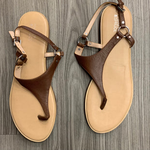 Primary Photo - BRAND: MARKET & SPRUCE STYLE: SANDALS FLAT COLOR: BROWN SIZE: 11 SKU: 172-172251-1563