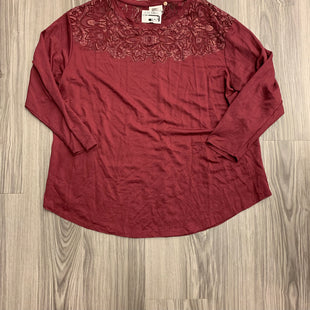 Primary Photo - BRAND: AVA & VIV STYLE: TOP SHORT SLEEVE COLOR: MAROON SIZE: 1X SKU: 172-172170-74927