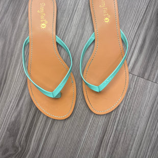 Primary Photo - BRAND:    CLOTHES MENTOR STYLE: SANDALS FLAT COLOR: MINT SIZE: 7 OTHER INFO: SUNNY FEET - SKU: 172-172170-75007