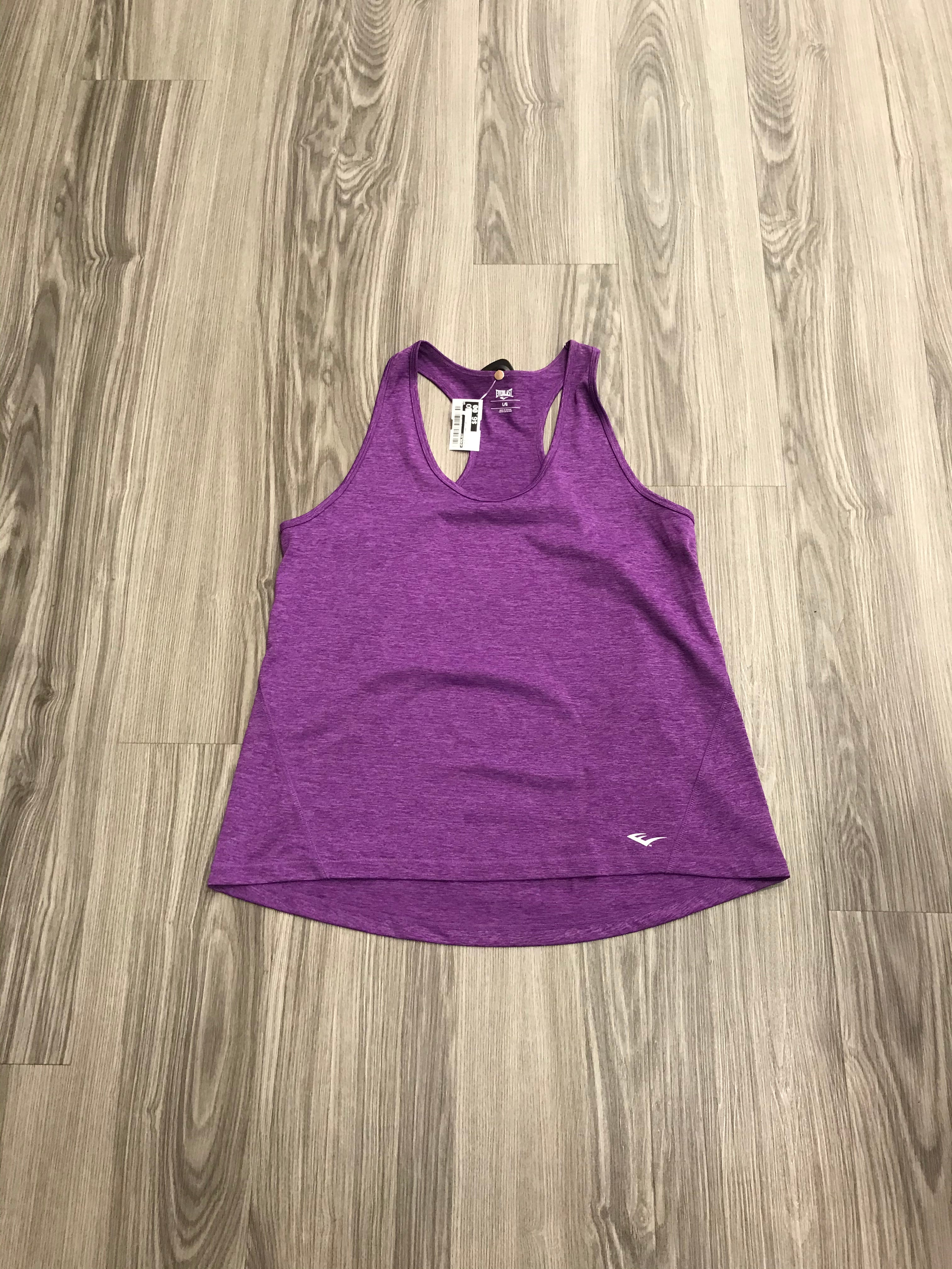 Primary Photo - BRAND: EVERLAST <BR>STYLE: ATHLETIC TANK TOP <BR>COLOR: PURPLE <BR>SIZE: L <BR>SKU: 172-172170-75938