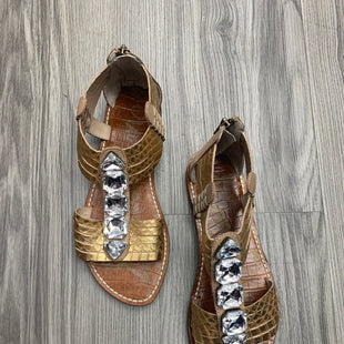 Primary Photo - BRAND: SAM EDELMAN STYLE: SANDALS FLAT COLOR: GOLD SIZE: 6.5 OTHER INFO: AS IS SKU: 172-172166-75657