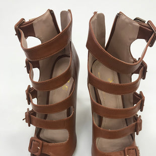 Primary Photo - BRAND: VERSACE STYLE: SHOES HIGH HEEL COLOR: BROWN SIZE: 10 SKU: 172-172166-36555