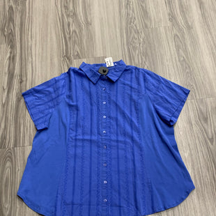 Primary Photo - BRAND: AVENUE STYLE: TOP SHORT SLEEVE COLOR: BLUE SIZE: 2X OTHER INFO: NEW! SKU: 172-172166-73305