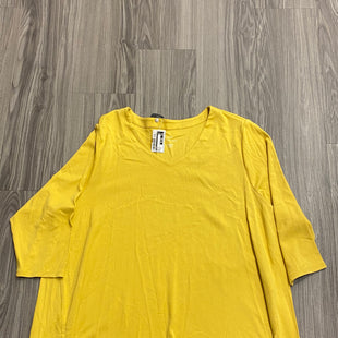 Primary Photo - BRAND: J JILL STYLE: TOP SHORT SLEEVE COLOR: MUSTARD SIZE: 3X SKU: 172-172242-4553