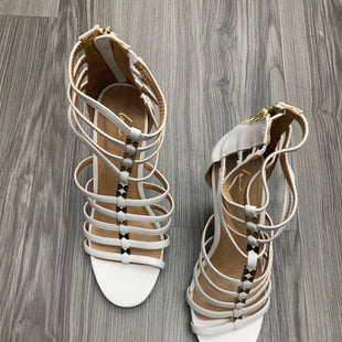 Primary Photo - BRAND: LANE BRYANT STYLE: SHOES HIGH HEEL COLOR: WHITE SIZE: 10 OTHER INFO: AS IS SKU: 172-172242-5276