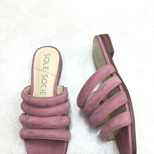 Primary Photo - BRAND: SOLE SOCIETY STYLE: SANDALS FLAT COLOR: PINK SIZE: 5.5 SKU: 172-17215-77363