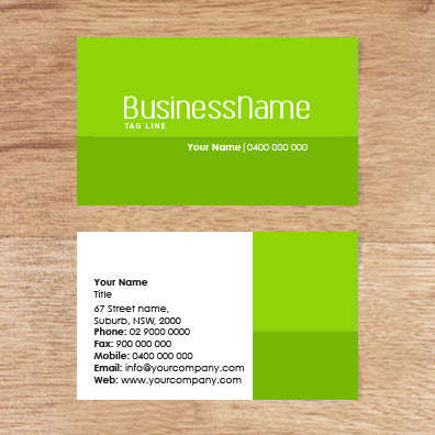 Image of business card design  B100115