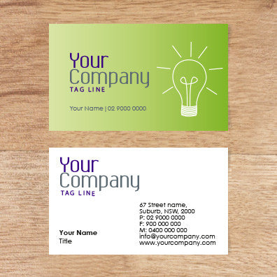 Image of business card design  B100120