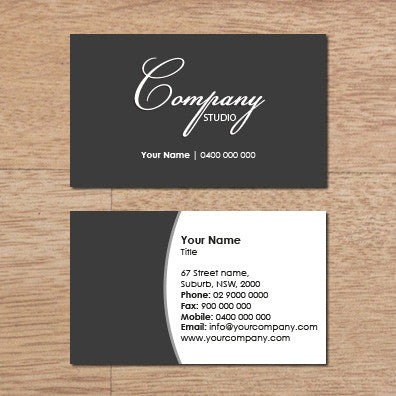 Image of business card design  B100139