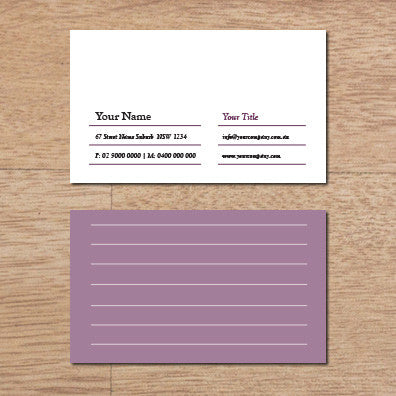 Image of business card design B100257