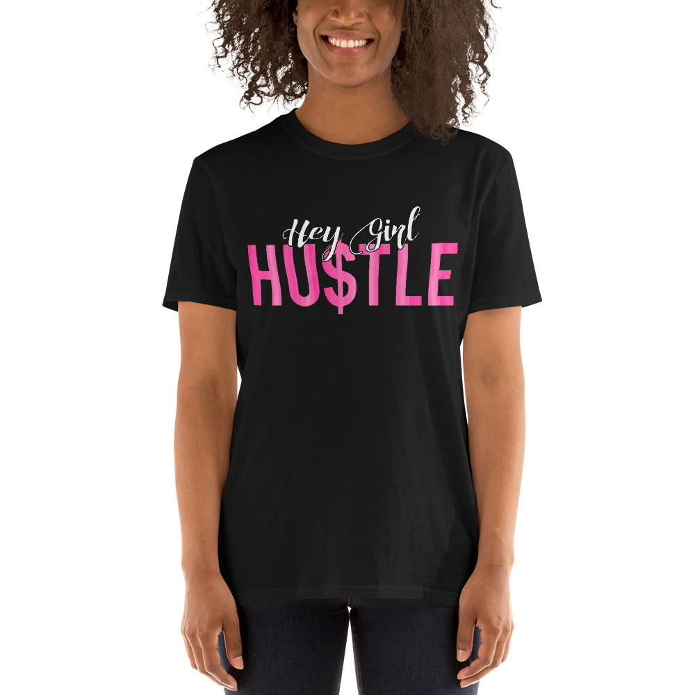 Hey Girl Hustle Tees Hot Pink